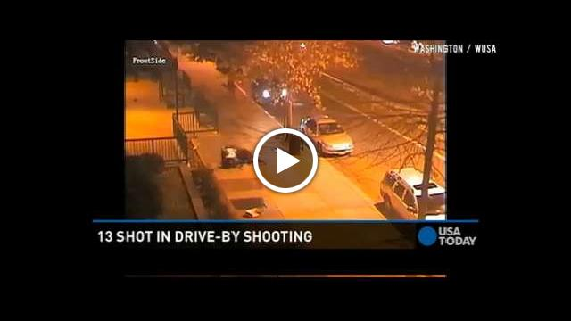 Caught on Camera: 13 Hurt in DC Drive-By Shooting