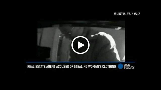 Realtor caught on camera stealing clothing from homes