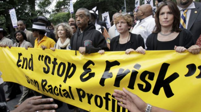 A New York protest rally against the controversial police stop-and-frisk …