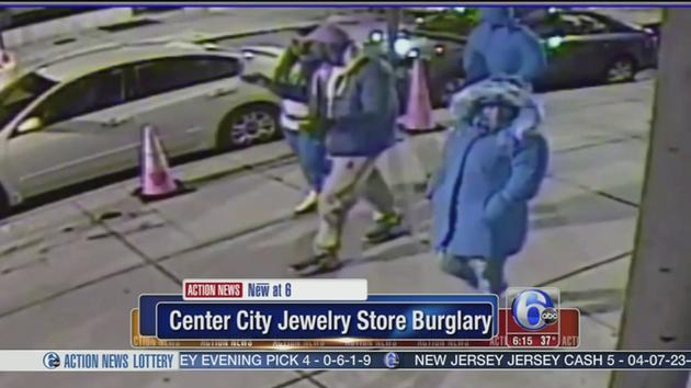 Suspects caught on camera in Center City jewelry store heist