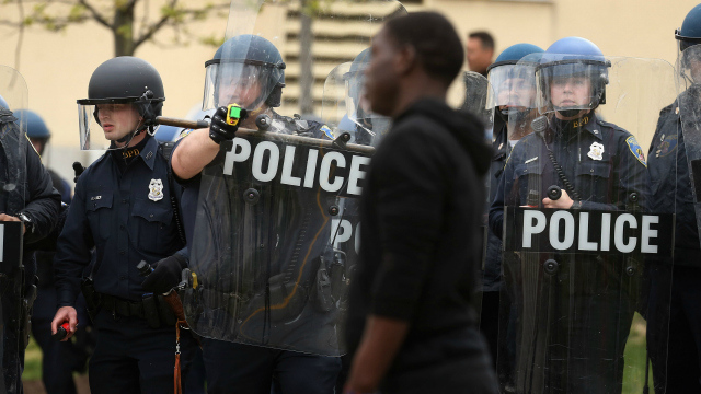 Baltimore Police spin news of gangs uniting to protest into 'credible threat'