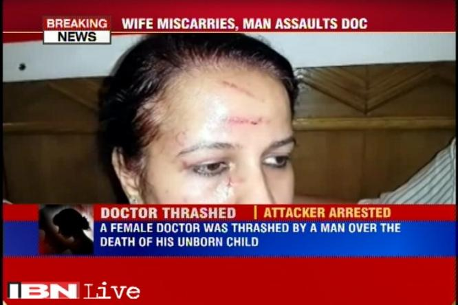 Caught on camera: Man thrashes lady doctor allegedly after his wife suffers a …