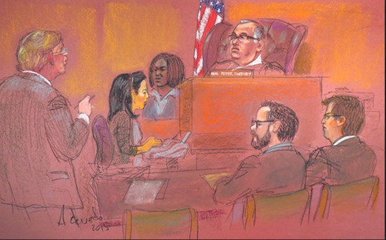 SKETCHES OF COURT: Jury rules for City in police brutality case