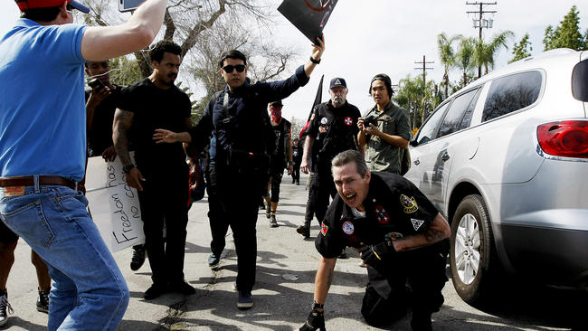 Violence at Ku Klux Klan rally in Anaheim: Police defend their actions