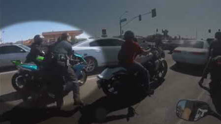 Caught on Camera: Tempe biker tries to run from police