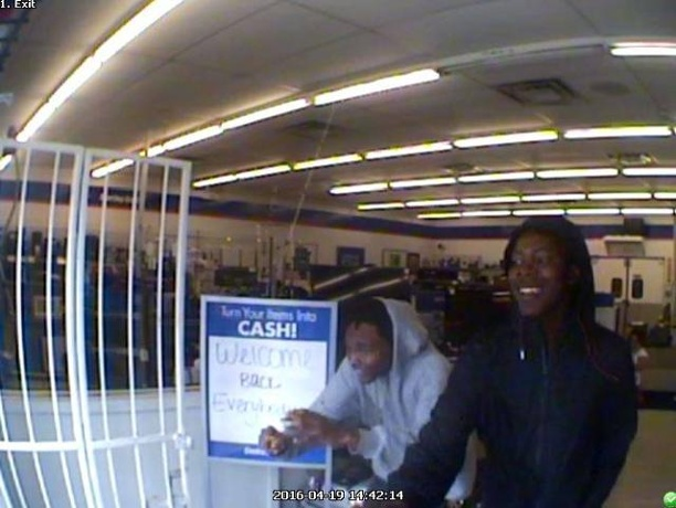 Police looking for men caught on camera stealing jewelry