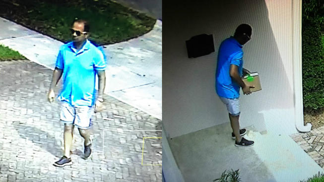 Man Caught on Camera Stealing Package From Miami Home: Police