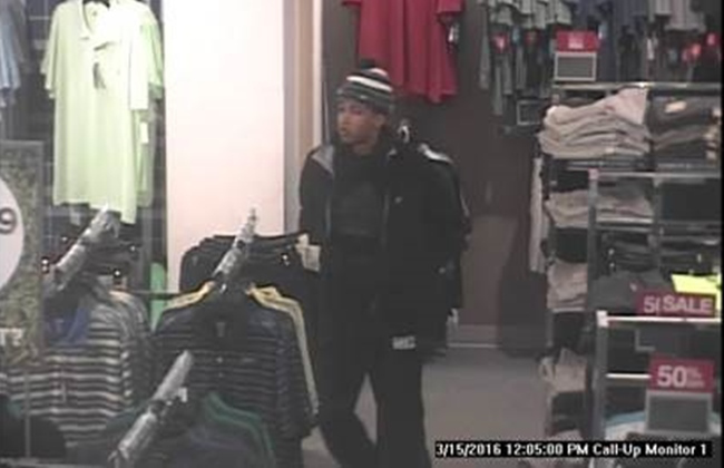 Police seek theft suspect caught on camera